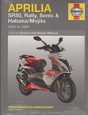 HAYNES 1993-2009 APRILIA SR50,RALLY,SONIC,HABANA OWNERS SERVICE MANUAL ()