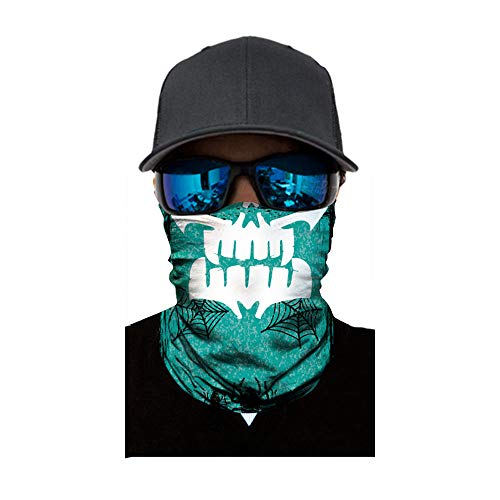FEDULK Skull Face Mask Balaclava Neck Tube Ski Scarf Motorcycle Bike Riding Hunting Cycling Halloween Party(E) -