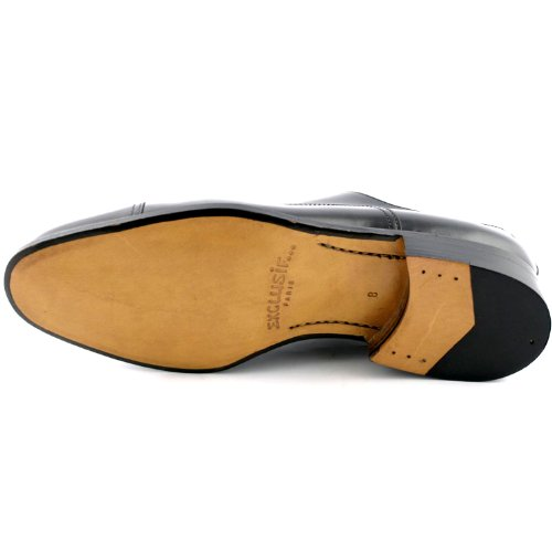 Exclusif Paris Exclusif Paris Milano, Chaussures homme Chaussures de ville - Zapatos de Cordones de cuero Hombre negro