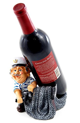 Bellaa 25440 Captain Wine Bottle Holder Sea Sailor Statue 7