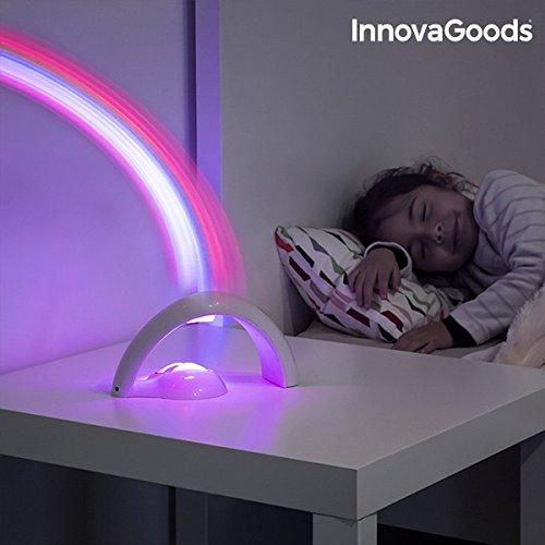 InnovaGoods Proyector LED Infantil Arcoíris, Blanco: Amazon.es ...