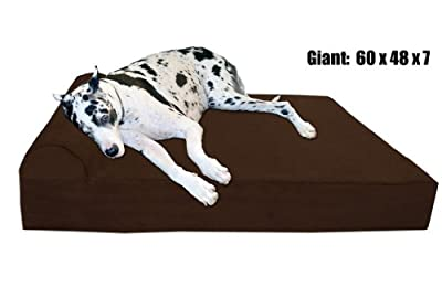 Orthopedic Bed For Large And X-Large Dogs With Headrest