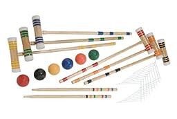 Halex Premier 6 Player Croquet Set in Molded Carry Case