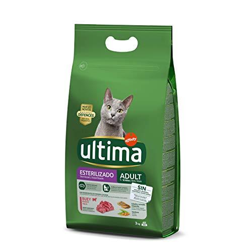 Ultima Pienso para Gatos Esterilizados Adulto con Buey – 3 kg