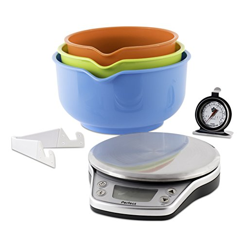 perfect pbp016 wireless bake pro smart kitchen scale and