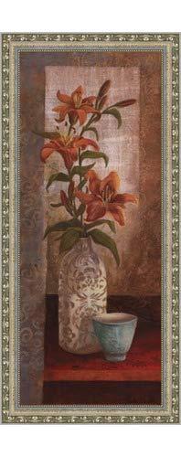 (Poster Palooza Framed Spiced Jewels I - Mini- 8x20 Inches - Art Print (Ornate Silver Frame))