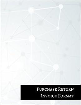 Amazoncom Purchase Return Invoice Format Purchase Return Book - Invoice format download online comic book store