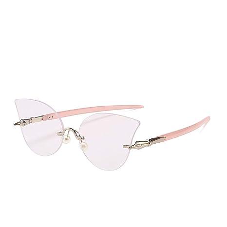 Yangjing-hl Gafas de Sol de Ojo de Gato Gafas de Metal de ...