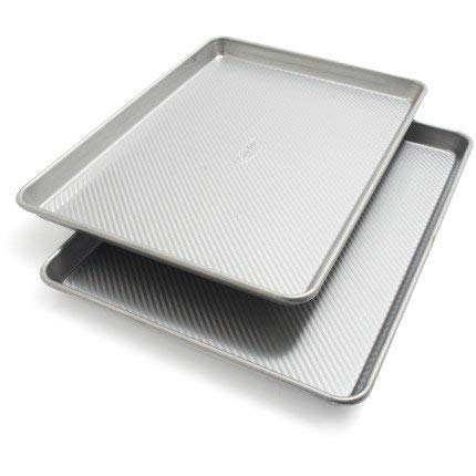 Sur La Table Platinum Professional Half Sheet Pans 21320ST, 17.25'' x 12.25'', Set of 2 by Sur La Table (Image #1)