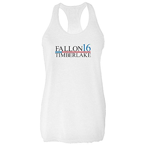 Fallon Timberlake 2016 Presidential Election Funny White L Womens Tank Top