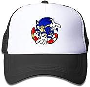 Kids Baseball Cap So-nic The Hedg-ehog Cotton Adjustable Print Trucker Hat