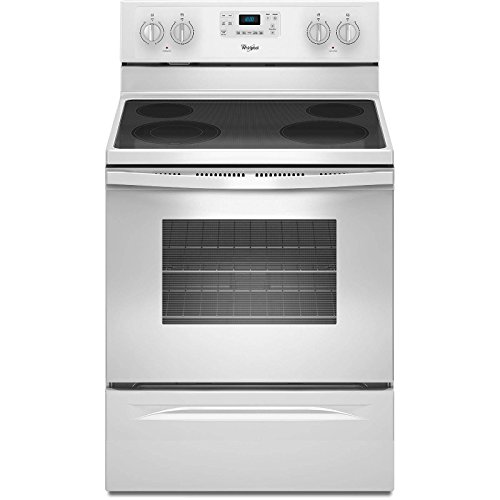 (White Whirlpool 5.3 Cu. Ft. Freestanding Electric Range With)