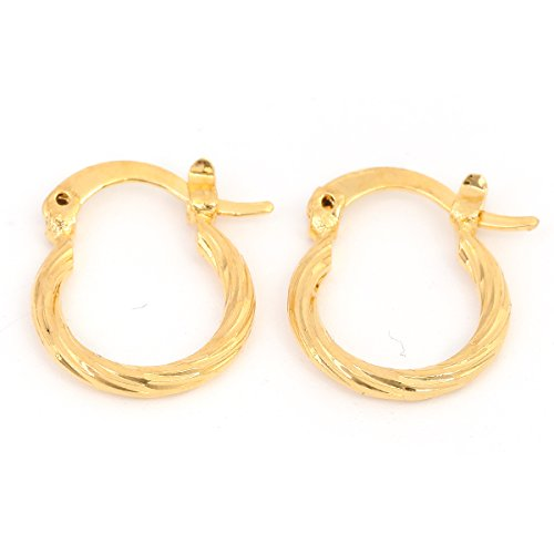 Price comparison product image Classical Linear Earrings Dubai Gold Jewelry Earrings Yellow Gold Metal Earrings