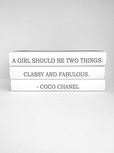 "Chanel Quote ""Classy and Fabulous"" Book Set, Fashion Designer Quote Books, Fashion Book, Fashion Design, Book Decor, Decorative Books, Book Lover, Coffee Table books, Bookworm, Home decor"