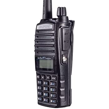 BaoFeng UV-82C (Commercial Model - Part 90 Approved) (USA Warranty) Dual-Band 136-174/400-520 MHz FM Ham Two-way Radio, Transceiver, HT - With Battery, Earpiece, Antenna, Charger, and More