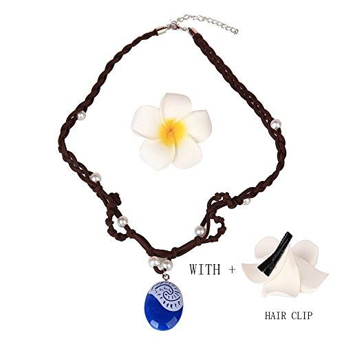 Moana-Necklace Hair Flower Cli