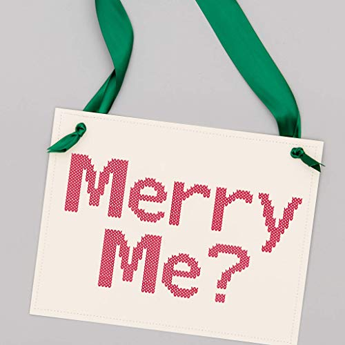 Merry Me Christmas Proposal Sign | Engagement Banner for Holidays | Handcrafted Banner |