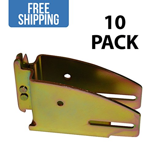 Extended Wood Beam Socket - 10 PACK - Shippers Supplies - Great Shelf Brackets for Building Decking in your Trailers, Trucks, Vans, SUVs and More!