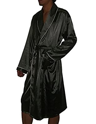 Mens Long Silk Couture Lounge / Sleepwear Robe - One Size Fits Most