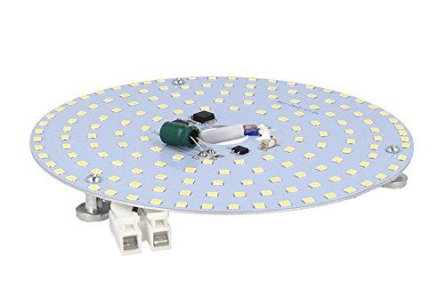 Plafoniere Con Circolina : Led plate 15w bianco caldo 220v 142mm con calamite senza driver