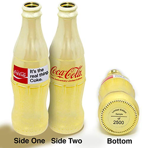 Sunbelt Gifts Coca-Cola 50th Anniversary 'It's The Real Thing' Hand Numbered Limited-Edition, 2500, Decorative Collectible Contour Coke Bottle