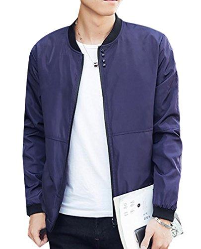 Navy Blue Baseball Jacket - 4