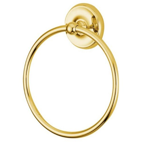 (Kingston Brass BA314PB Classic Towel Ring, Polished Brass)