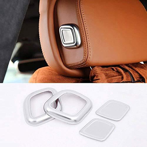 ABS Plastic Car Head Pillow Decorate Cover Sequins Trim Sticker Accessories for Maserati Levante Quattroporte matte silver