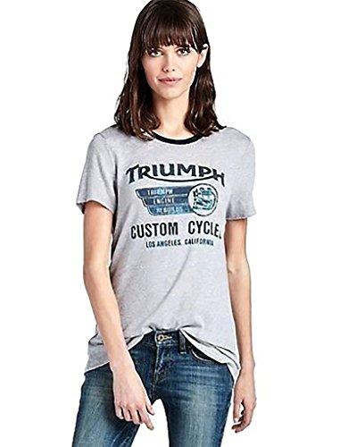 Lucky Brand Women's - Gray Triumph Custom Motorcycle Shor...