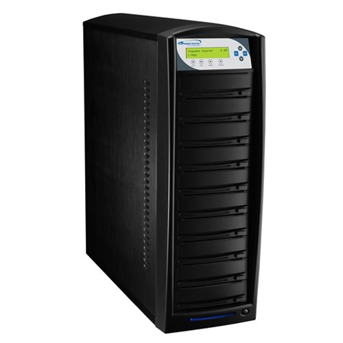 SharkCopier Daisy Chain Duplicator - HDD to 10 SATA DVD Series with 320GB HDD