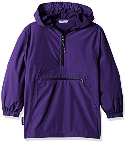 (Charles River Apparel Kids' Big Pack-N-Go Pullover, Purple, S)