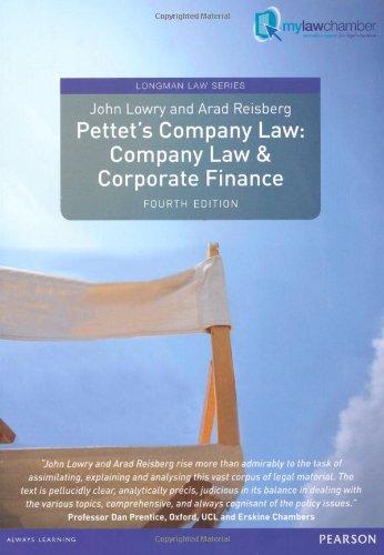 Pettet's Company Law: Company Law & Corporate Finance, Uk Edition (Longman Law Series)