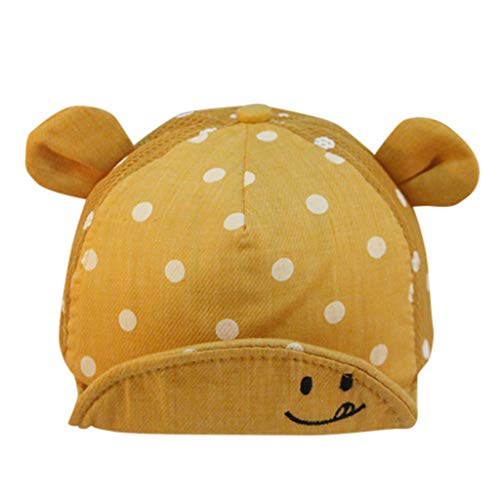 - Baby Hat, XEDUO Baby Kids Boys Girls Hat Popular Smiley Face Wave Dot Peaked Cap with Cute Ears