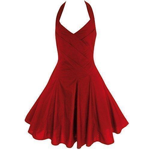 939dad272c98 Vestito da donna Vintage anni 40 50er Rockabilly Pinup Swing a forma di  cotone Neck cantore