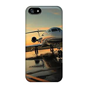 Top Quality Case Cover For Iphone 5/5s Case With Nice Gulfstream On Airport Appearance