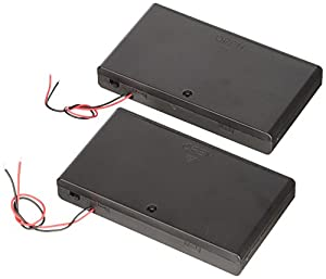 2 Pcs 8 x AA 12V Battery Holder Case Box Wired ON/OFF Switch w Cover
