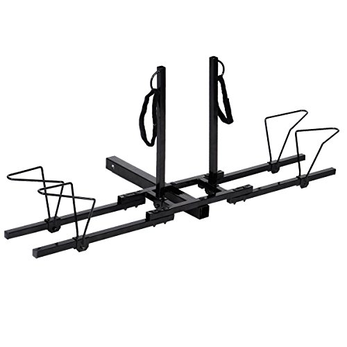 y Duty 2 Bike Bicycle Hitch Mount Carrier Platform Rack Truck SUV (2' Hitch Mount)