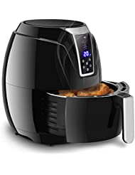 Costzon Electric Air Fryer, 3.4 Quart 1400W, Healthy Oil Free Cooking, 7-In-1 Electric Deep Cooker with LCD Touch, Temperature and Time Control, Dishwasher Safe, Detachable Basket Handle