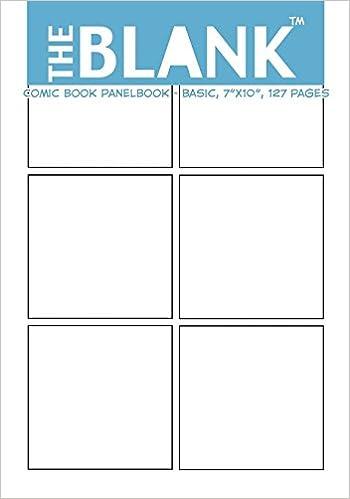 Amazon.com: The Blank Comic Book Panelbook - Basic, 7