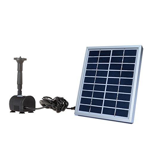 Anself 9V 2W Small Solar Fountain Water Pump for Pool Garden Fountains