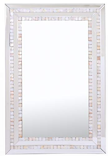 (Camden Isle Double Mosaic Tiled Frame Mirror)