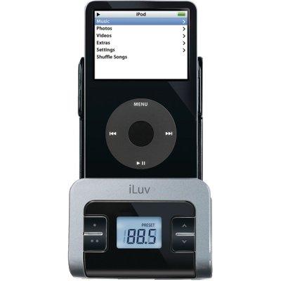 ILUV I707BLK DIGITAL FM TRANSMITTER WITH DOCK & CAR CHARGER -