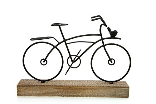 Hosley 9.5'' High, Decorative Tabletop Bicycle Pedestal, Black. Ideal Gift for Wedding, Home, Party Favor, Spa, Reiki, Meditation, Bathroom Settings P1 by HOSLEY