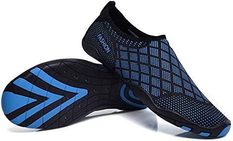 HYH (青)夏の水泳シューズ屋外ヨガシューズ男性と女性の滑り止めダイビングシューズ水遊び水の靴 いい人生 (色 : Blue, Size : US7.5)