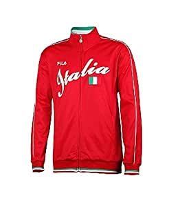 Fila Men's Italia Track Jacket LM103A52,Chinese Red,US 5XL