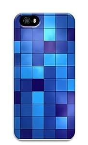 Case For Iphone 5/5S Cover Blue Blocks 3D Custom Case For Iphone 5/5S Cover