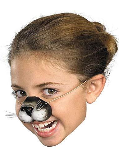 (Child Rubber Costume Black Cat Kitten Zoo Animal Nose Elastic Band)