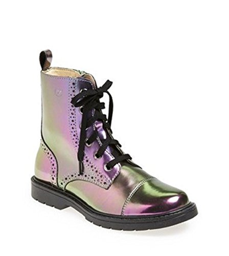 Naturino Iridescent Girls Toddler's & Little Kid's Leather Oil Slick Lace up Boots 24 M EUR by Naturino