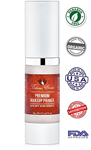 Premium Foundation Makeup Primer- anti aging, fine lines, wrinkles & pore minimizer primer - Enriched with Vitamin A, C & E for flawless skin- Waterproof makeup base - Made in The USA FDA Certified