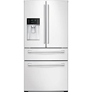 Samsung RF28HMEDBWW Energy Star 28.2 Cu. Ft. French Door Refrigerator with Counter-Height FlexZone Drawer and Freezer Drawer, White